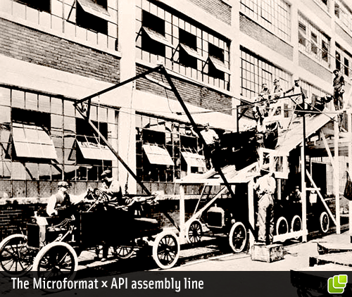 Microformats x API Assembly Line - Photo: National Archives and Records Administration Still Picture Branch, College Park, Maryland