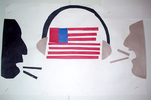6th Grader's Riff on the American Flag