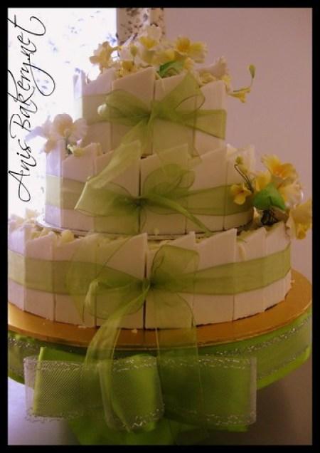 all chocolate wedding cake  ( white edition)