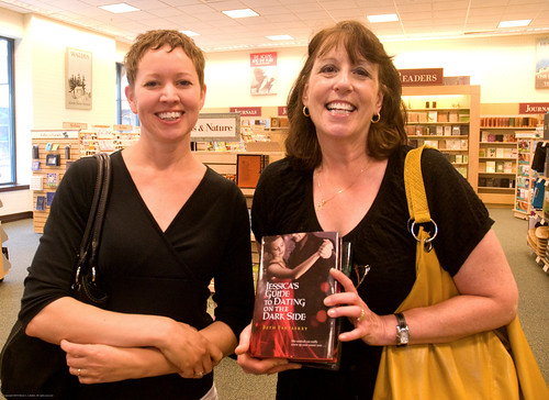 "Beth Fantaskey, author of ""Jessica's Guide to Dating on the Dark Side,"" signs books in Cherry Hill, 5/21/2010"