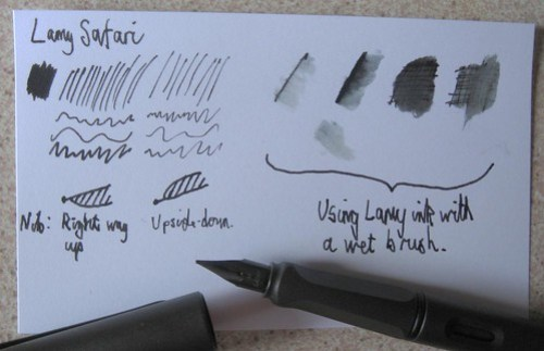 Lamy Safari Sample Scribbles