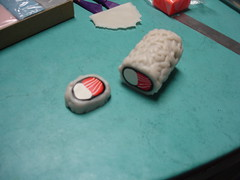 Bagel Roll Sushi Magnets Made From Sculpey 7