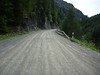Gravel stretch on Passo Umbrail