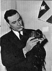 Bertrand Flornoy with shrunken head
