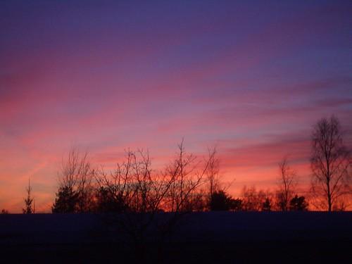 Una puesta de sol en el marzo sueco