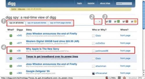 Quick Guide to Digg Spy 2.0