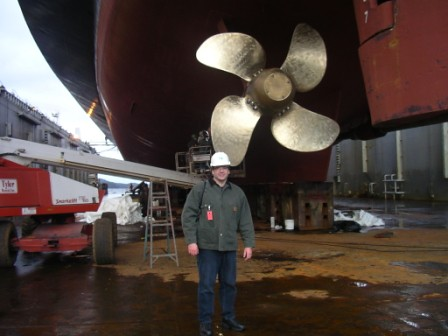 On the drydock floor in Ketchikan, Alaska