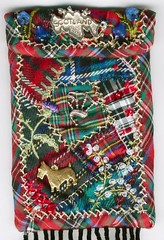Tartan purse close-up