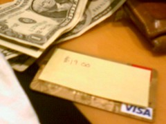 Using a Post-it with ATM cards