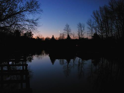 Leland River sunrise