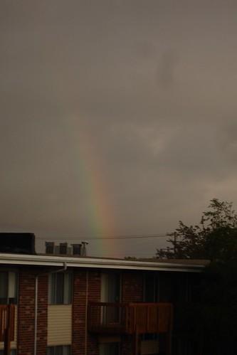 Rainbow over DeKalb, 5-15-06.