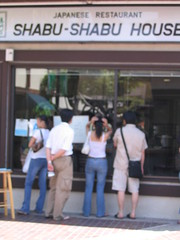 Lining up for Shabu Shabu House