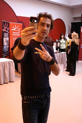 kk vlogging at Techvibes Massive 2006