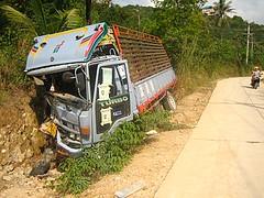 LKW-Crash - Thailand - Koh Pha Ngan