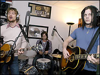 Brendan Benson & Jack White in the studio