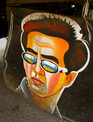Salman painted on Auto rickshaw mud paddle