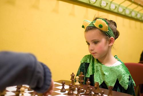 Zelie aan 't schaken