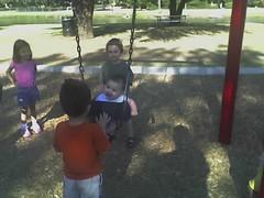 Baby boy swings