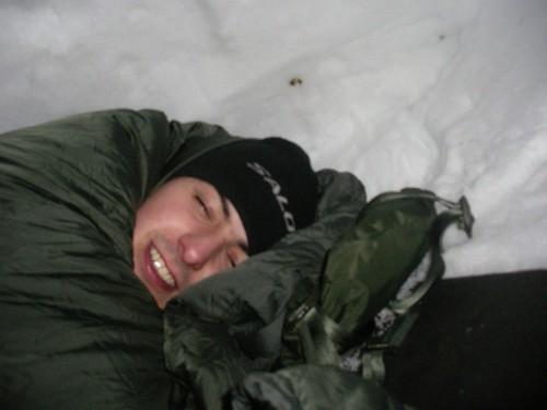 Durmiendo en el iglú