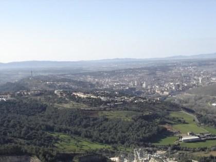 Girona des de l'aire