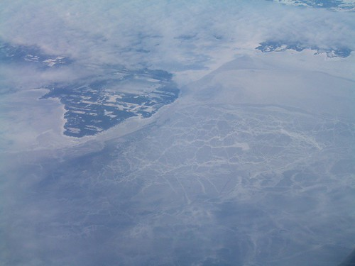 El mar congelado visto desde el avión