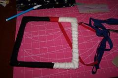 Pin Frame wrapped in bias binding