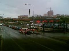 Under the bridge, downtown