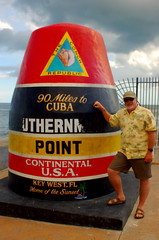 Tom at Southernmost Point