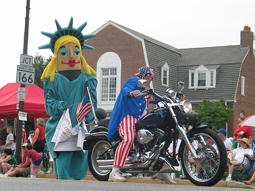 Lady Liberty and Uncle Sam