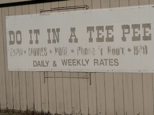 Tee Pee Sign