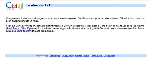 Gmail Lockdown in Sector 4!