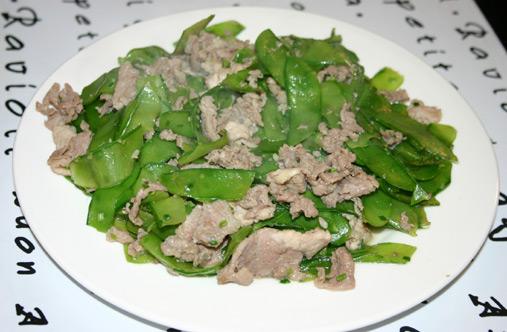 豌豆皮炒肉片