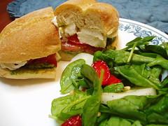 fresh mozzerella sandwich