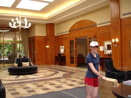 the FREAKIN ENORMOUS foyer.