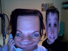 Jody and Jake after playing with Apple's Photobooth