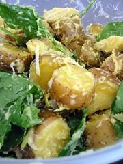 Saffron Kipfler Potato Salad with Kaffir Lime Zest