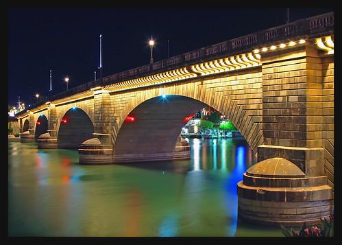 london bridge in Lake Havasu, imported brick by brick