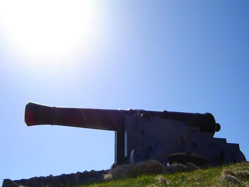 Sun on a gun