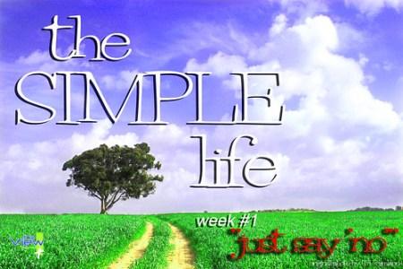 simple life week #1 title slide