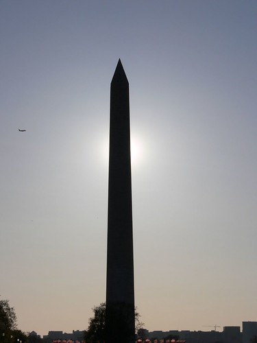 Plane, Monument and Sun