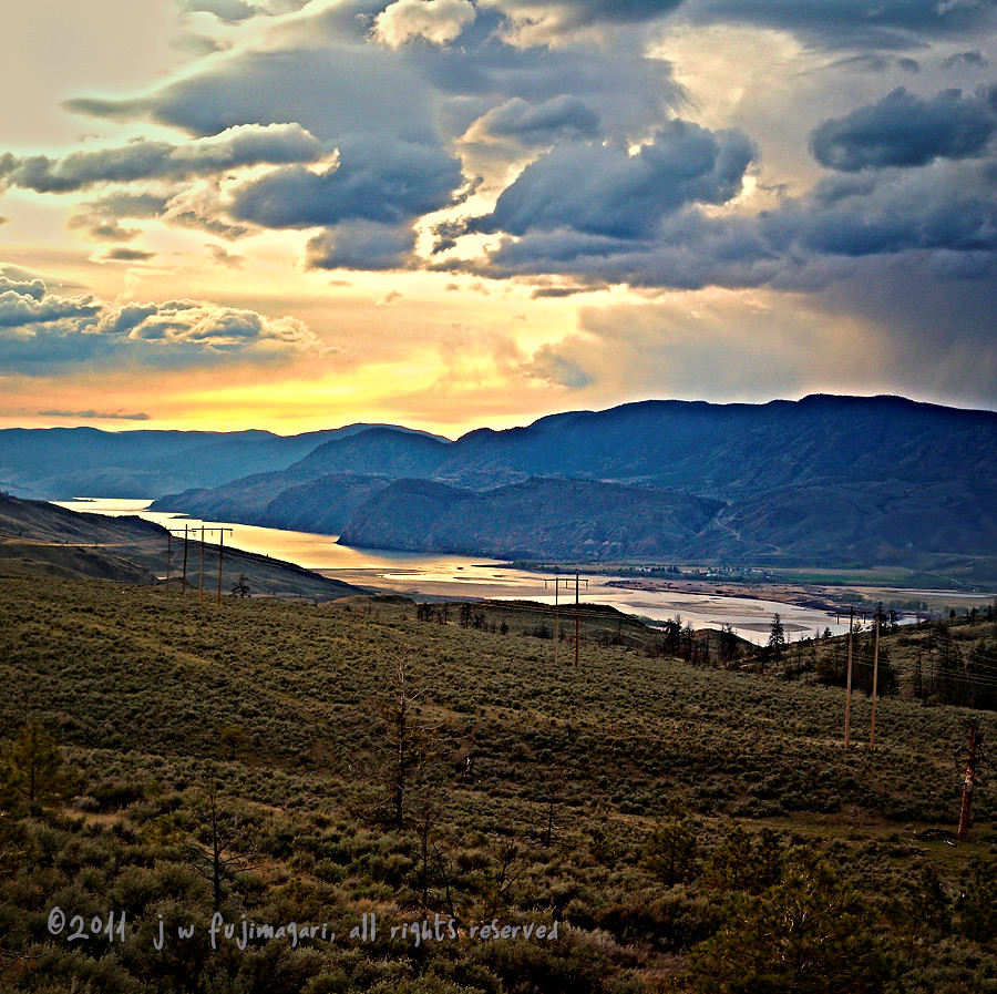 Kamloops Lake Sunset - Over The Top