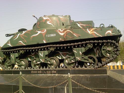 Sherman Mark 5 Tank at Ajni Square, Nagpur