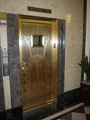 Ambassador Hotel elevator, one of dozens - smashed, by: fitzgene, flickr