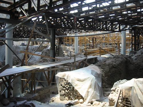 Akrotiri under construction