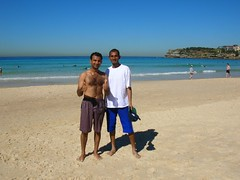With Irfan on Bondi Beach