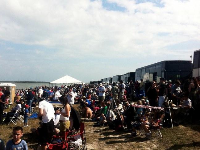 Crowd view of NASA causeway