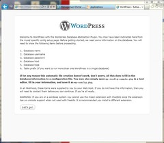 before config WordPress