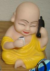 Buddha on a phone