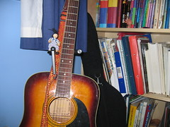 Adventures in Teenbed-Ageroom: Jimmy scales the mighty obolisk called Guitar