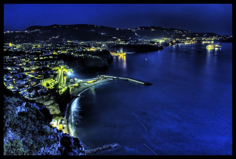 The Amalfi Coast at Night